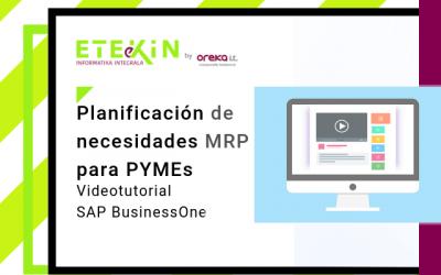 Videotutorial · SAP Business ONE: MRP, planificación de necesidades para PYMEs