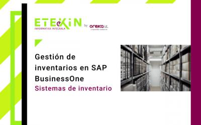 Gestión de inventarios en SAP Business One (I): sistemas de inventario