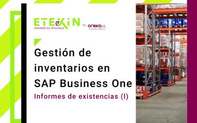 Gestión de inventarios en SAP Business One (III) : informes de existencias (I)