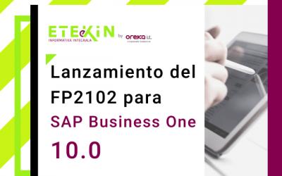 Lanzamiento del FP2102 para SAP Business One 10.0